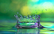 Abstract Rain Prints - The Kings Crown Print by Darren Fisher