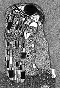 Gustav Klimt. Kiss Posters - The Kiss And The Bouquet Poster by Meia Jacobs