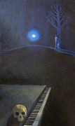 Piano Painting Originals - The kiss and the piano by Fernando Alvarez