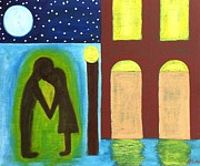 Relationship Paintings - The Kiss Goodnight by Patrick J Murphy
