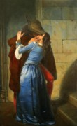 Hayez Paintings - The Kiss by HJ Kennedy