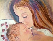 Precious Moment Prints - The Kiss Print by Margie Maroney