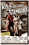 1963 Movies Prints - The Kiss Of The Vampire, 1963 Print by Everett