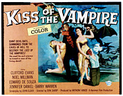 1963 Posters - The Kiss Of The Vampire, Center Poster by Everett