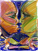 Intimacy Mixed Media Posters - the Kiss Poster by Russell Pierce