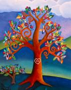 Rolling Mixed Media - The Kissing Tree by Lori Miller