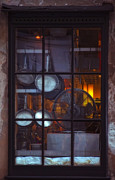 Kitchen Photos Prints - The Kitchen Window at Night Print by Kathleen K Parker