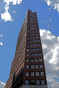 Gebaeude Metal Prints - The Kollhoff-Tower ...  Metal Print by Juergen Weiss