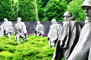 Korea Digital Art Posters - The Korean War Memorial - Washington Poster by Bill Cannon