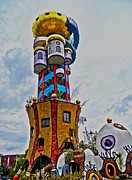 Hundertwasser Framed Prints - The Kuchlbauer Tower Framed Print by Juergen Weiss