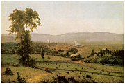 Fine American Art Prints - The Lackawanna Valley Print by George Inness