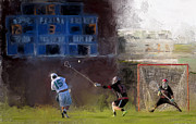High School Sports Prints - The Lacrosse Shot Print by Scott Melby