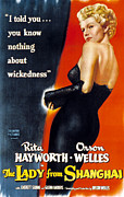 Hayworth Posters - The Lady From Shanghai, Rita Hayworth Poster by Everett
