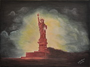 Liberty Paintings - The Lady by Jagdish Karial