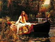 Canoe Posters - The Lady Of The Shalot Poster by Pg Reproductions