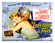 1950s Movies Framed Prints - The Lady Takes A Flyer, Lana Turner Framed Print by Everett