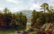 Picturesque Painting Posters - The Lake George Poster by David Johnson