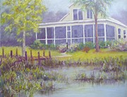 Tropical House Pastels Prints - The Lake House Print by Grace Goodson