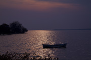 Turkey Pyrography Metal Prints - The Lake on the evening Metal Print by Zafer GUDER