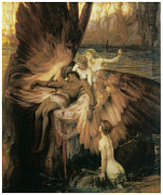 Greek Myth Prints - The Lament for Icarus  Print by Herbert Draper