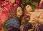 Detail Painting Prints - The Lamentation of Christ Print by Capponi