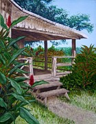 Mary Deal Prints - The Lanai Print by Mary Deal