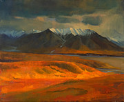 National Park Paintings - The Land Beyond the Red Tundra by Douglas Girard