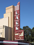 Old Theater Framed Prints - The Lark Theater in Larkspur California - 5D18482 Framed Print by Wingsdomain Art and Photography