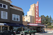 Old Theater Framed Prints - The Lark Theater in Larkspur California - 5D18483 Framed Print by Wingsdomain Art and Photography