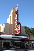 Old Theater Framed Prints - The Lark Theater in Larkspur California - 5D18484 Framed Print by Wingsdomain Art and Photography