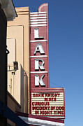 Old Theater Framed Prints - The Lark Theater in Larkspur California - 5D18490 Framed Print by Wingsdomain Art and Photography