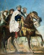 Turban Framed Prints - The Last Caliph of Constantine Framed Print by Theodore Chasseriau