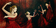 Figurative Paintings - The last dance by Dorina  Costras
