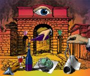 Visionary Art Mixed Media - The Last Days of Herculaneum by Eric Edelman