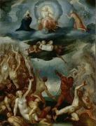 Putti Prints - The Last Judgement  Print by Martin Pepyn