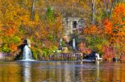 Autumn Art Prints - The last of the old mill Print by Robert Pearson