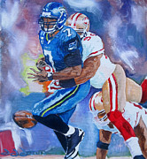 49ers Painting Prints - The last play that mattered Print by Donovan Furin
