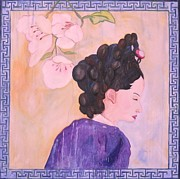 Korea Paintings - The Last Queen of Korea by Lorraine Toler