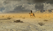 American West Digital Art Prints - The Last Ranger Print by Dieter Carlton