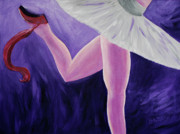 Ballet Art Prints - The Last Slipper Print by Donna Blackhall