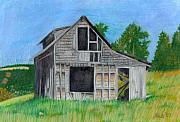 Haunted House Pastels Prints - The Last Stage Stop Print by Mendy Pedersen