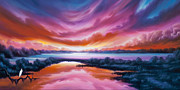 Power Paintings - The Last Sunset by James Christopher Hill