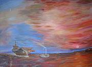 Carrier Painting Originals - The Last Sunset by Steve Pringle