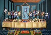 Christian Art Mixed Media Framed Prints - The Last Supper Framed Print by Anthony Falbo