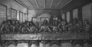 Bas-relief Framed Prints - The Last Supper Framed Print by Christopher Kirby