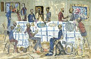 Supper Paintings - The Last Supper by Conrad Romyn