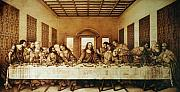Paper Pyrography Framed Prints - The Last Supper Framed Print by Dino Muradian