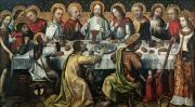 Lamb Of God Painting Posters - The Last Supper Poster by Godefroy