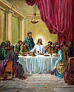 Disciples Prints - The Last Supper Print by John Lautermilch