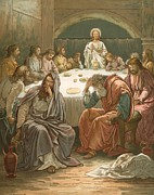 Bible Metal Prints - The Last Supper Metal Print by John Lawson